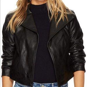 Faux leather jacket NWOT